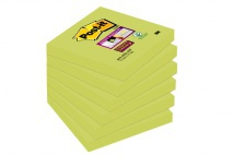 3M Post-it Super Sticky jegyzettömb 76×76 mm, 90 lap, lime